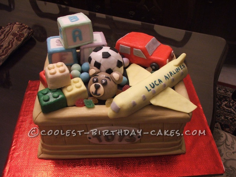 Coolest Chest of Toys Cake