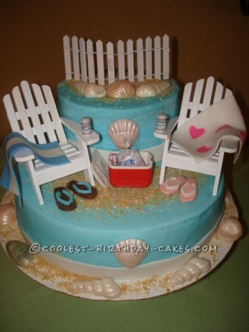 Coolest S Beach Themed Shower Cake