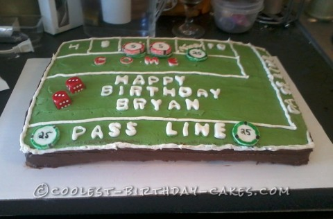 Coolest Craps Table Cake