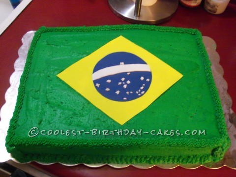 Coolest Flag of Brazil Cake