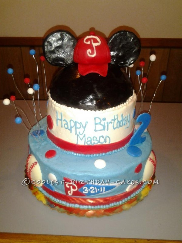 Coolest Homemade Mickey Mouse Phillies Cake