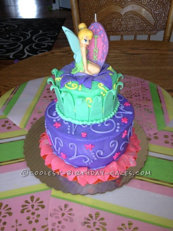 Coolest Homemade Tinkerbell Cake