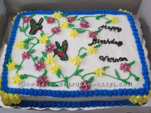 Coolest Hummingbird Birthday Cake