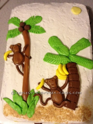 candy monkey luau cake