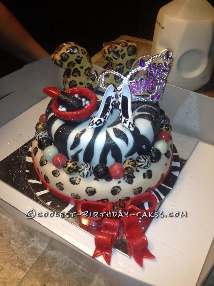 Coolest Leopard And Zebra Birthday Cake