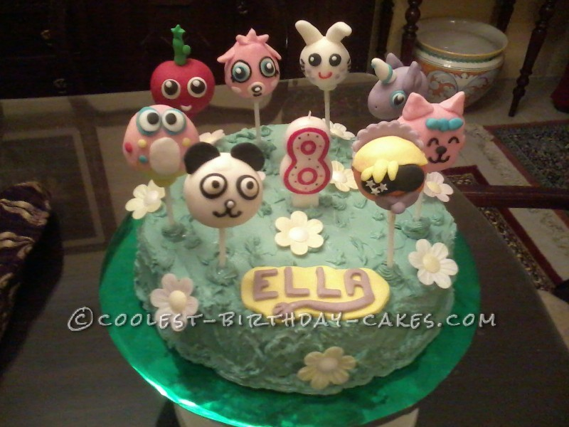 Coolest Moshi monsters cake/pops