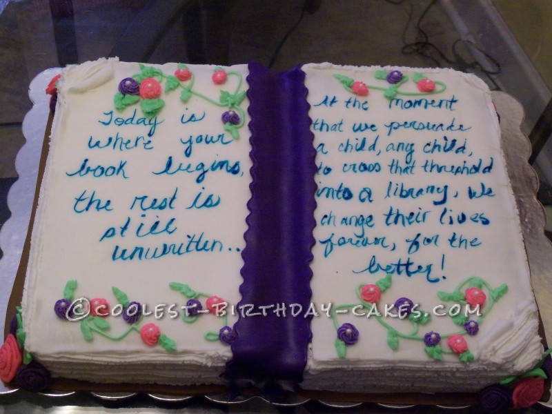 Coolest Open Book Cake