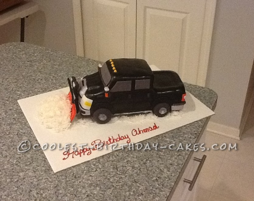 Coolest Pick Up Truck and Snow Plow Cake