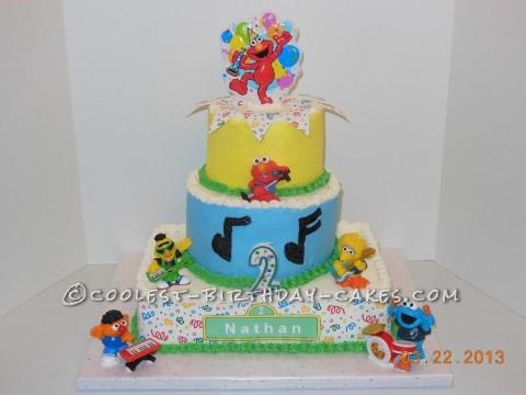 Coolest Sesame Street Band Birthday Cake
