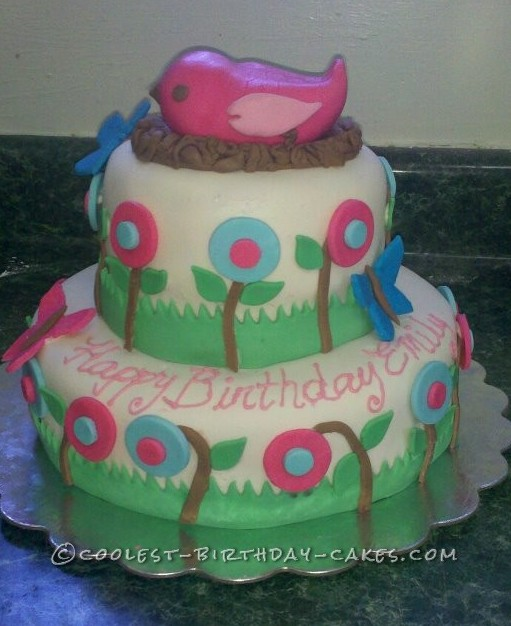 Coolest Bird In A Nest Spring Birthday Cake