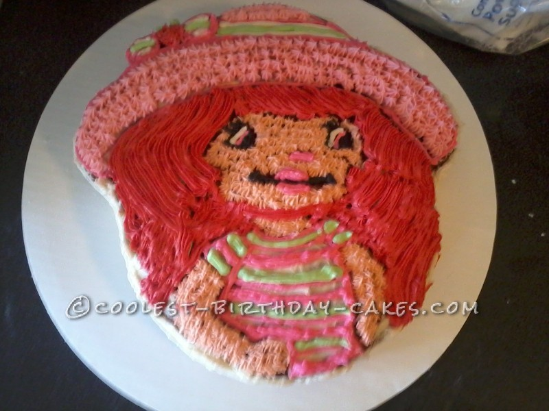 Strawberry Shortcake Cake Made with Wilton Cake Pan
