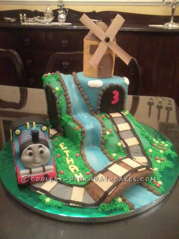 On the Right Track with a Thomas the Tank Engine Scene Cake