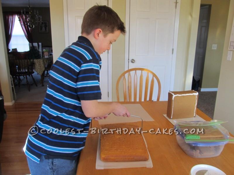 Making the Waterfall cake