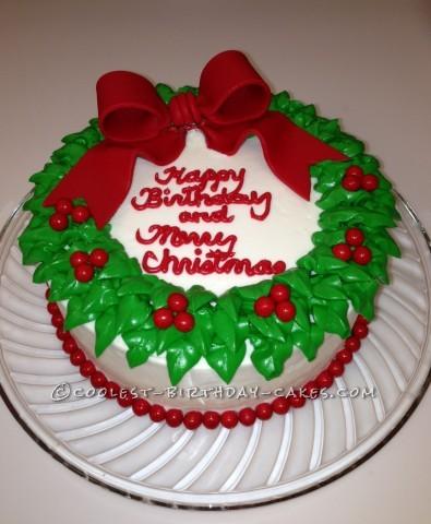 Coolest Wreath Cake