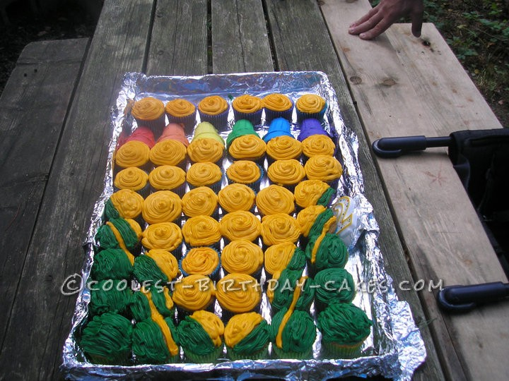 Coolest Crayon Box Birthday Cupcakes