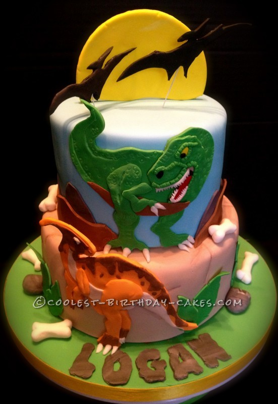 Coolest Dino-Mite Dinosaur Birthday Cake