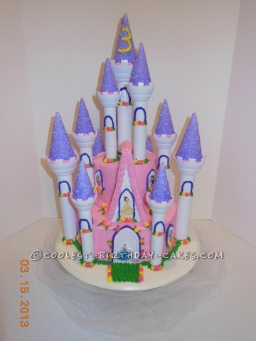 Cool Disney Princess Castle Cake