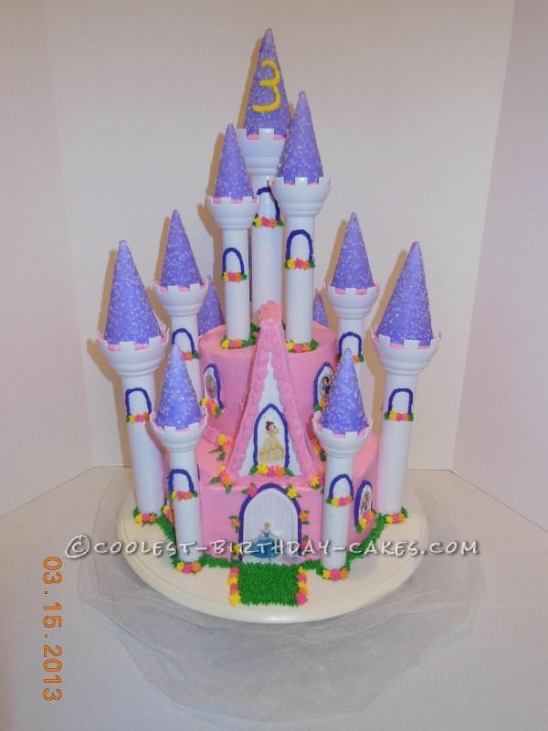 Cool Disney Princess Castle Cake