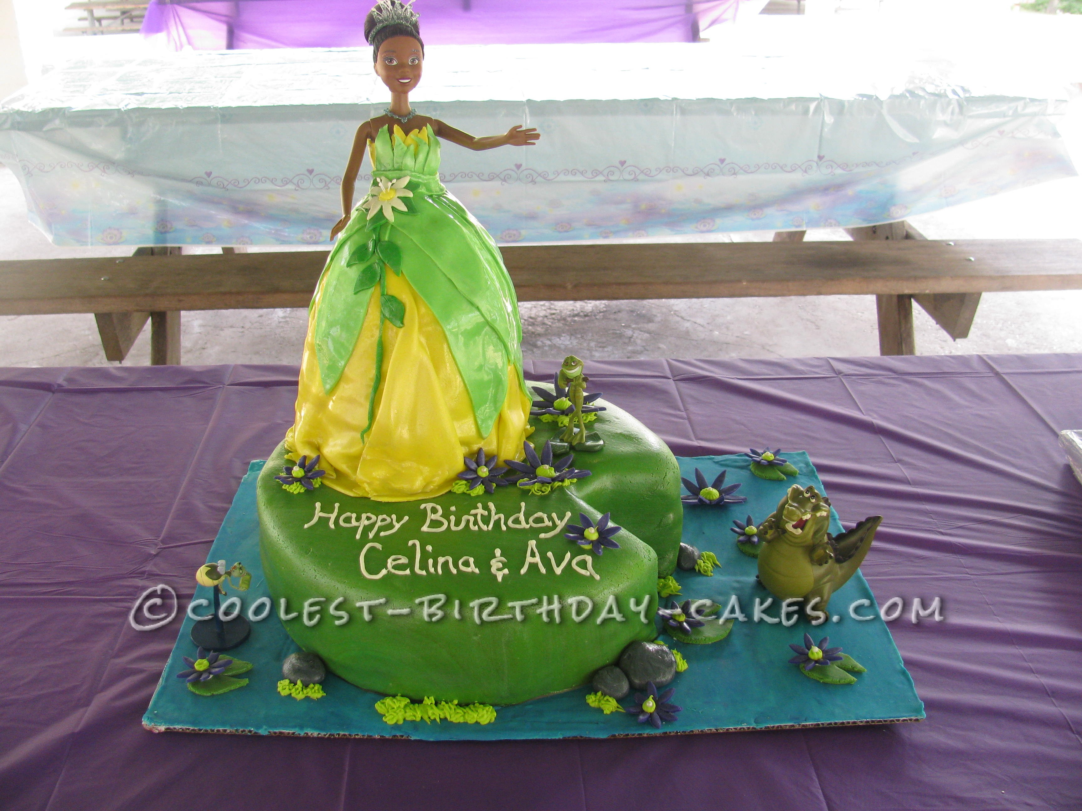 Disney Tiana And Friends Birthday Cake