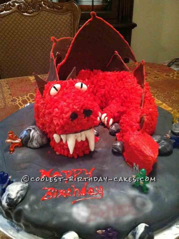 Cool Dragon Cake for a Ninja Birthday Party