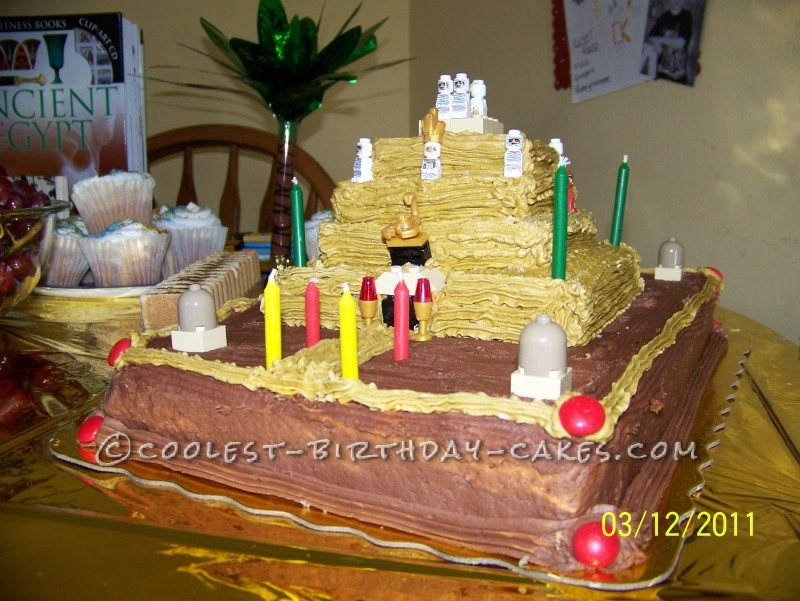 Egyptian Birthday Cakes http://ideas.coolest-birthday-cakes.com/2013/03/13/egyptian-pyramid-birthday-cake/