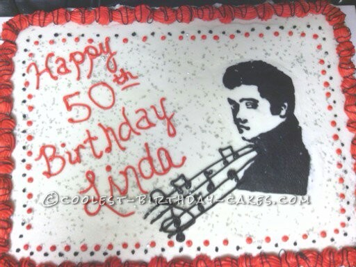 Elvis Birthday Cake