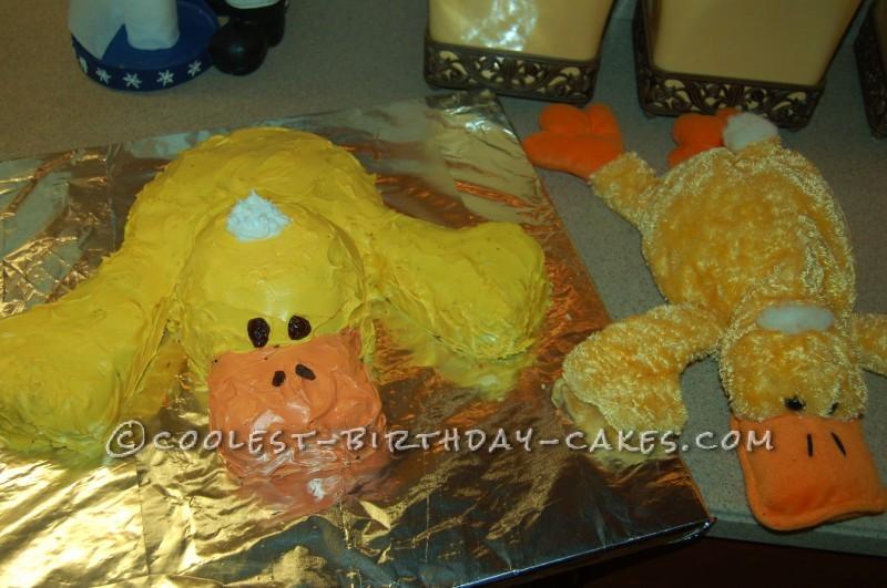 My Son's Favorite Duck Birthday Cake