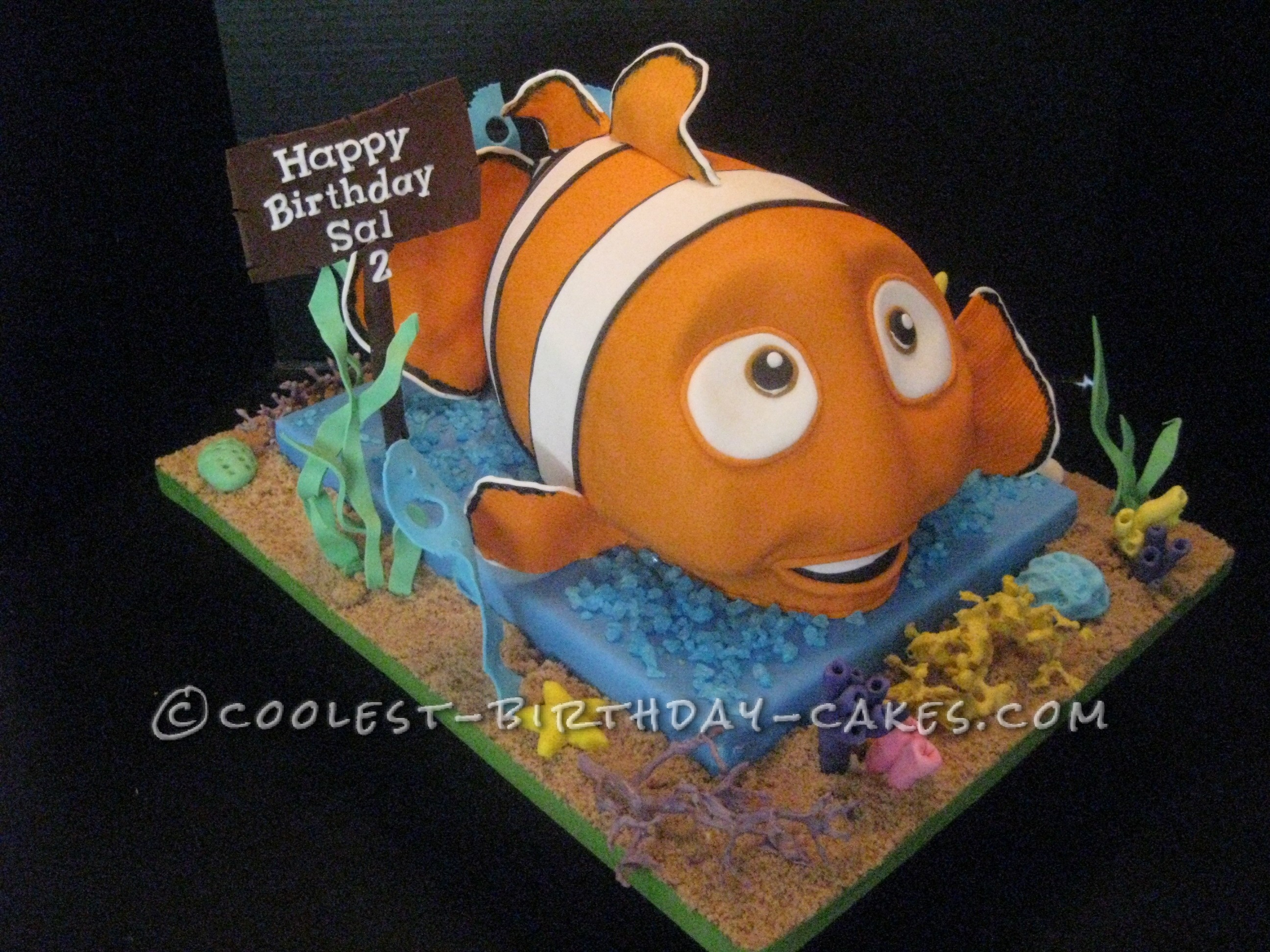 Awesome Homemade 3d Finding Nemo Birthday Cake