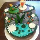 Princess and the Frog Wedding Shower Cake