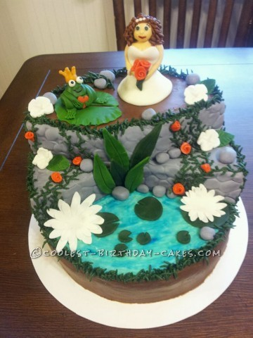 Princess and the Frog Wedding Shower Cake