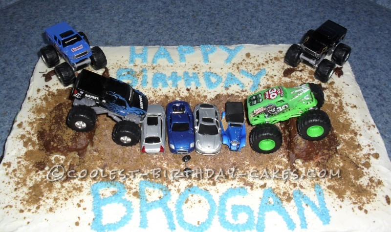 Cool Monster Truck Cake for Future Driver