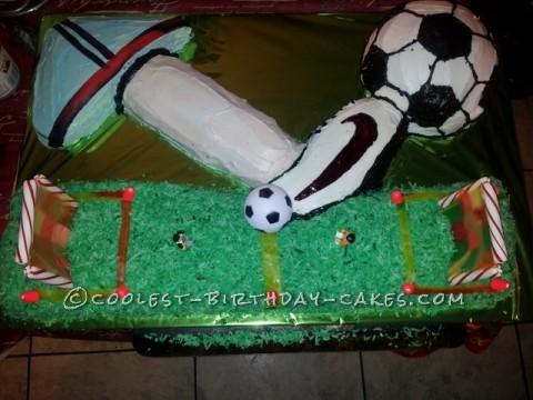 Giant Soccer Birthday Cake