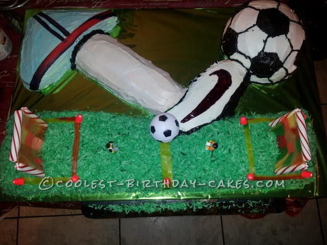 Giant Soccer Birthday Cake