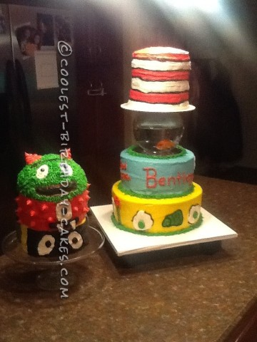 Cat in the Hat Cake with a REAL Goldfish