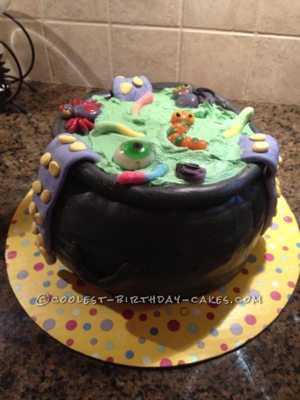 Halloween Cauldron Cake