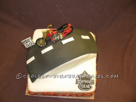 Cool Harley Davidson Birthday Cake