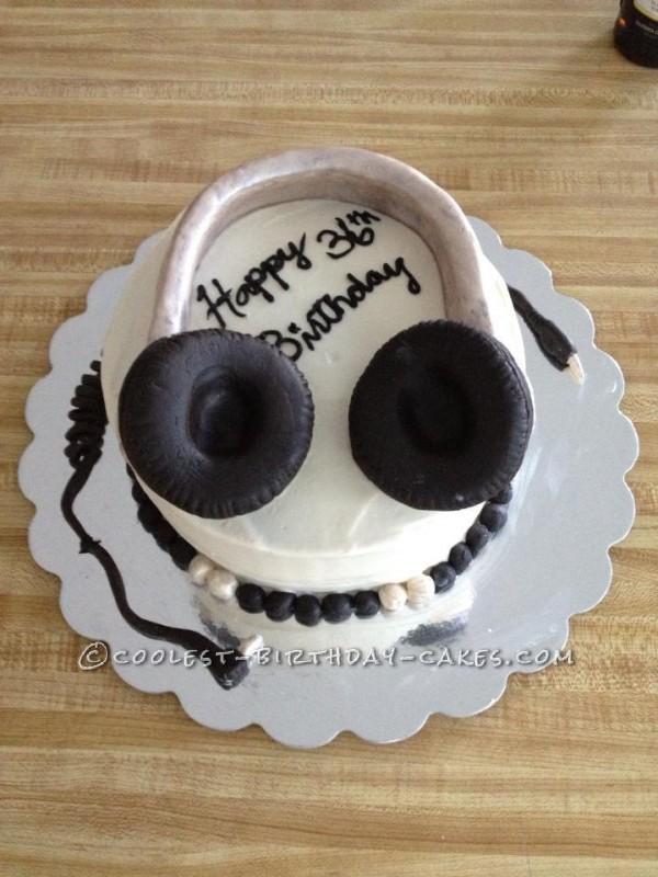 Original Headphones Birthday Cake