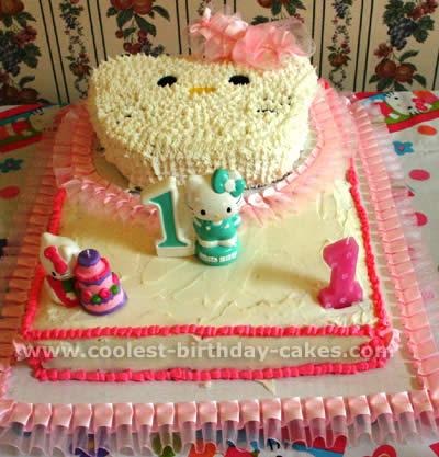 Phenomenal 12 Cool And Easy Hello Kitty Birthday Cake Ideas Personalised Birthday Cards Veneteletsinfo
