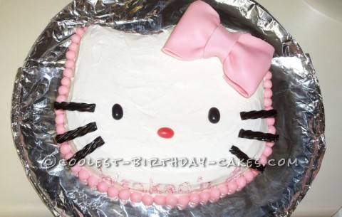 Superb 12 Cool And Easy Hello Kitty Birthday Cake Ideas Personalised Birthday Cards Cominlily Jamesorg