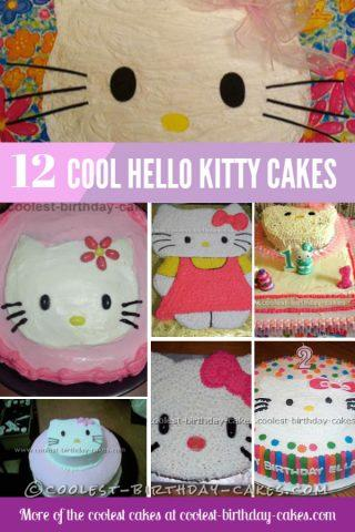 Swell 12 Cool And Easy Hello Kitty Birthday Cake Ideas Funny Birthday Cards Online Fluifree Goldxyz