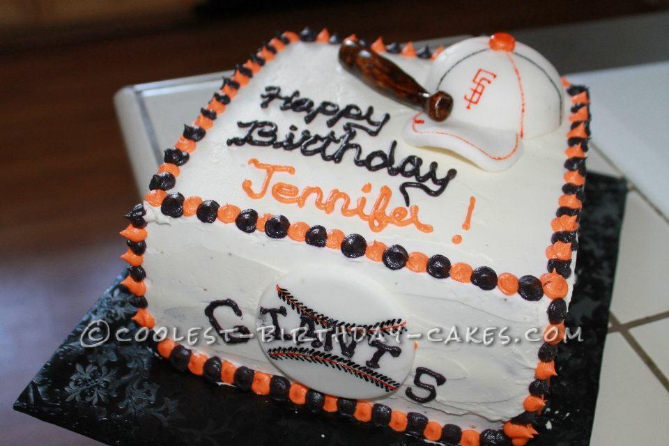 Go Giants Baseball Birthday Cake