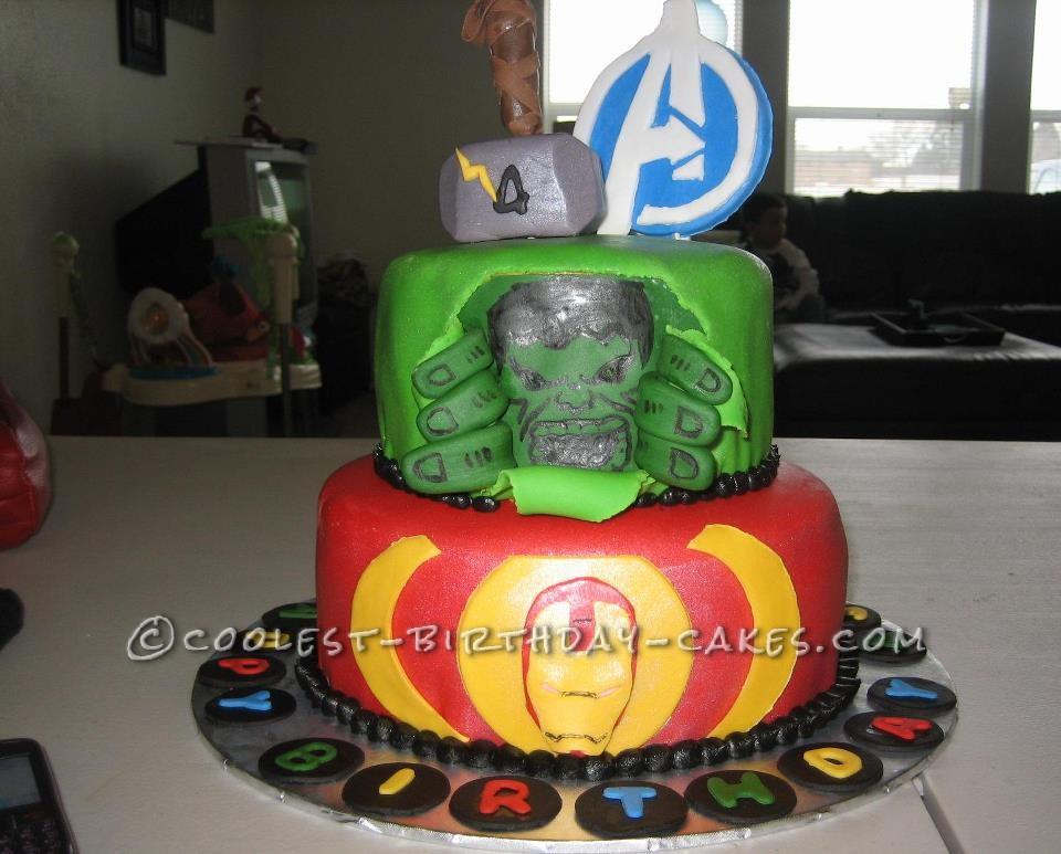 Hulk/Avengers 4th Birthday Cake