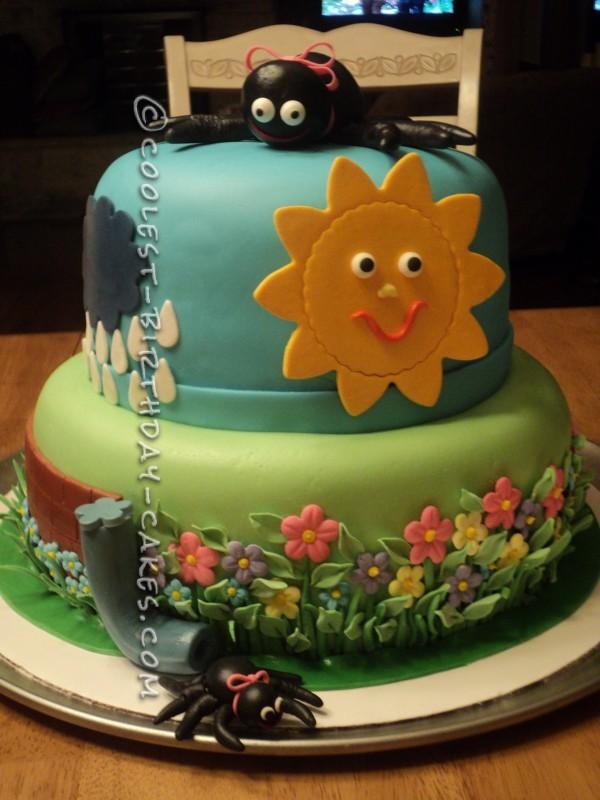 Incredible Coolest Itsy Bitsy Spider Birthday Cake Funny Birthday Cards Online Inifofree Goldxyz