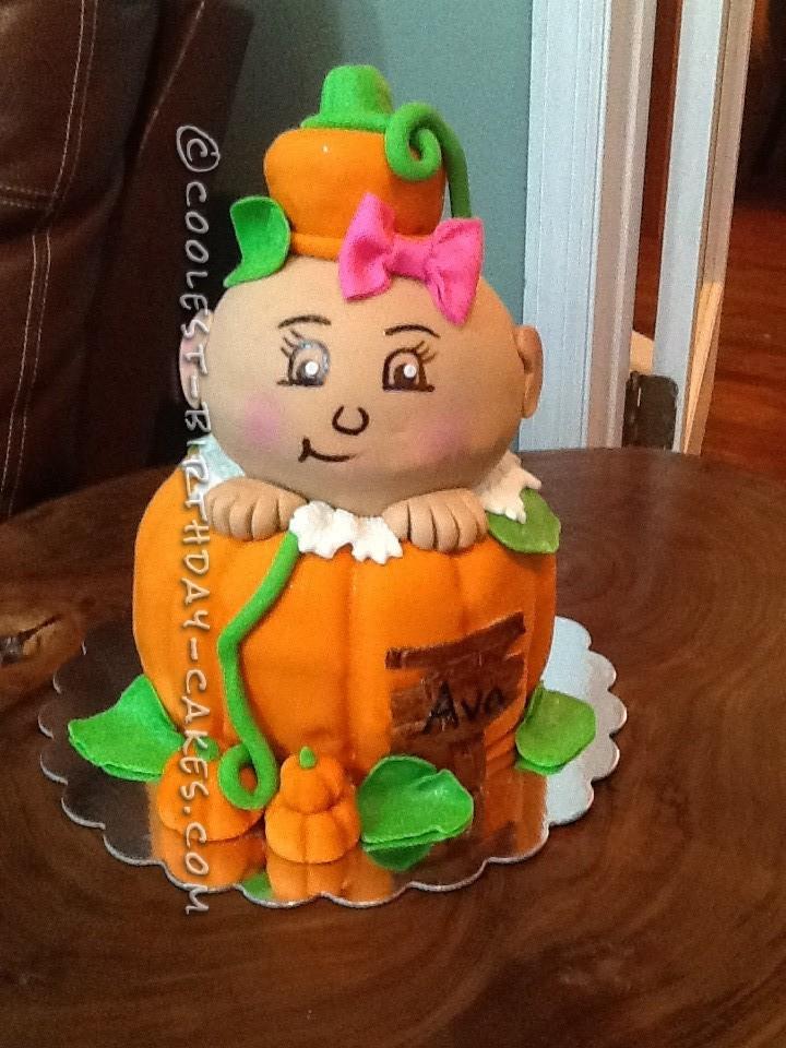 Itty Bitty Baby Pumpkin Baby Shower Cake