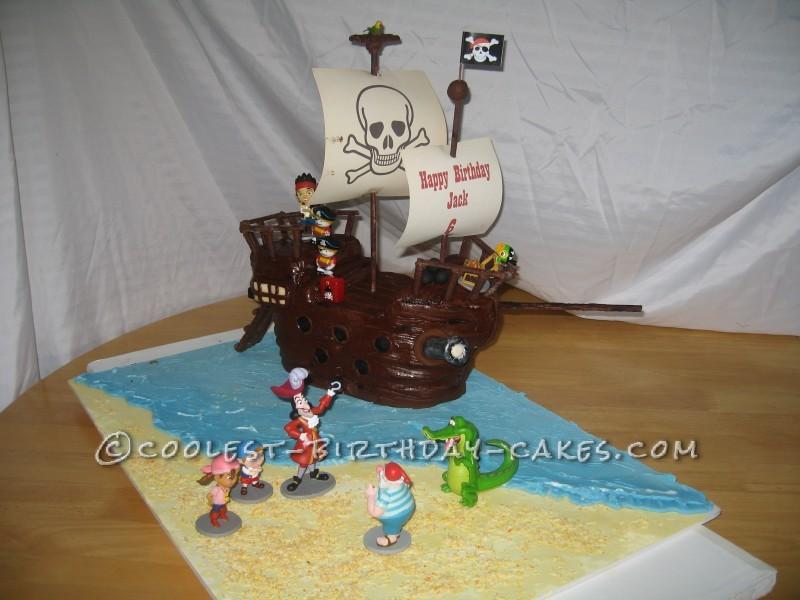 Jake and the Neverland Pirates Ship Cake