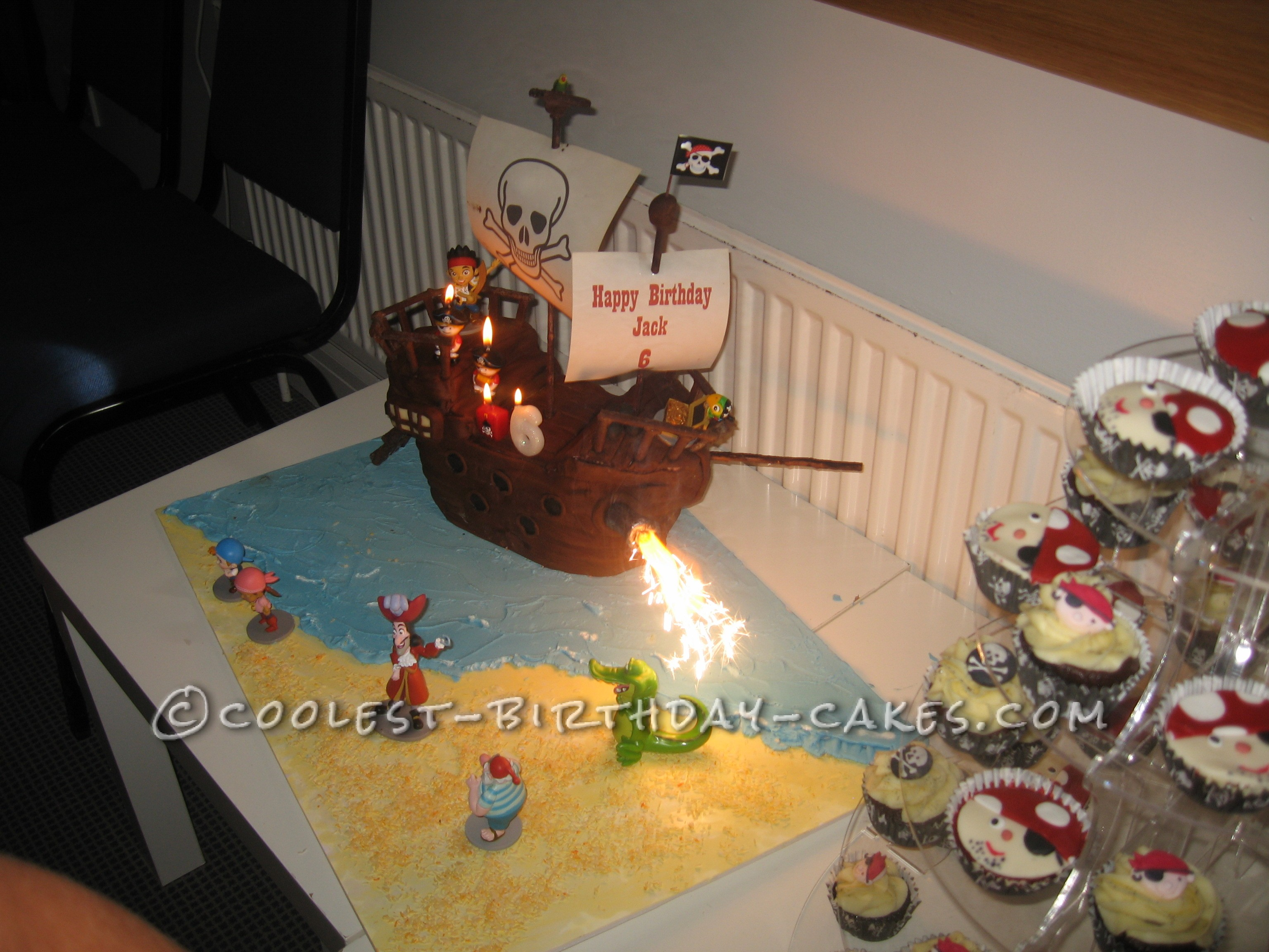 Jake and the Neverland Pirates Ship Cake