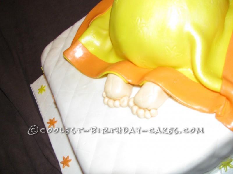 Karate-Themed Baby Shower Cake