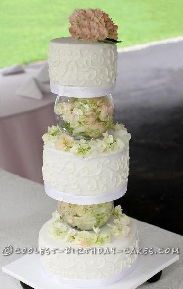 Last-Minute Floral Wedding Cake