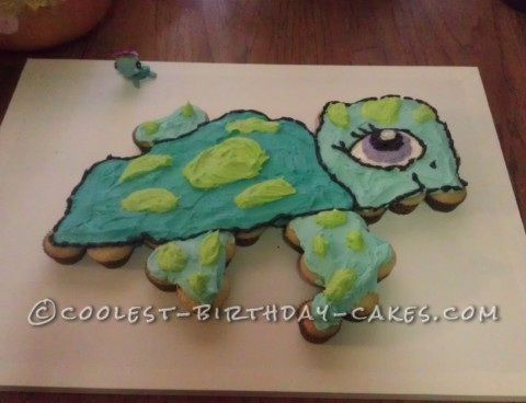 Littlest Pet Shop Sea Turtle Cupcake Cake