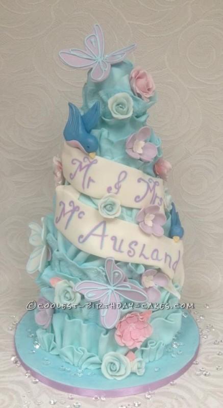 Choccywoccydoodah Inspired Lovebirds Wedding Cake